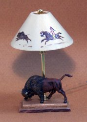 Buffalo Hunt Lamp