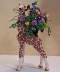 Baby Giraffe with Floral
