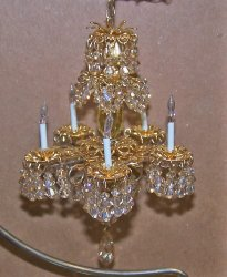 Golden Shadow Crystal Chandelier