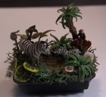 JUngle Pool with Zebra