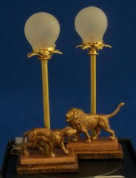 Lions Buffet Lamps
