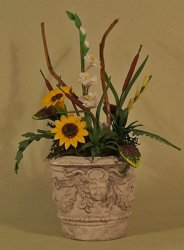 Sunflowers in Tuscan Urn