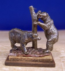 Pair of Bronze Bears