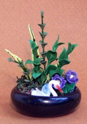 Miniature Water Garden with Italian Glass Swan