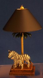 Zebra and Child Lamp