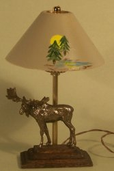 Bronze Moose Lamp