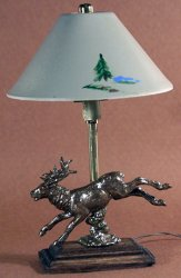 Bronze Stag Lamp