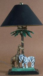 African Wildlife Lamp