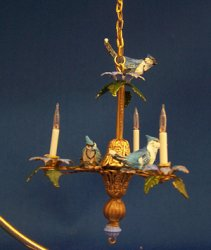 Blue Birds Chandelier