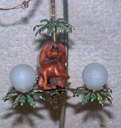 Palm Tree Monkey Chandelier