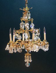 Gold Baccaret Crystal Chandelier