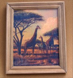 Giraffe Family Framed Print
