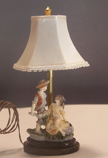 Couple with Flower Cart Lamp