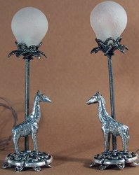 Pair of Giraffe Bufffet Lamps