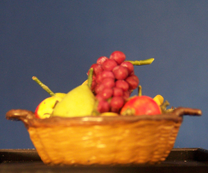 Basket of Pears, Apples and Grapes