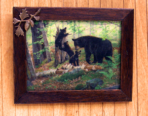 Bear Creek Family Framed Print