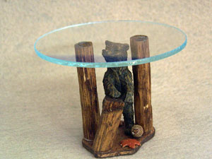 Bear Creek Glass Top Table