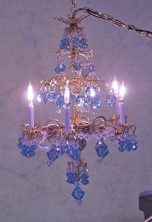 Sapphire Crystal Chandelier