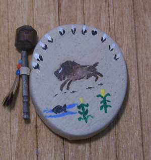 Ceremonial Dance Drum and Rattle