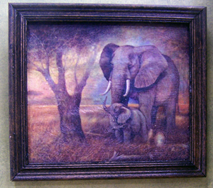 Elephant and Child Framed Print