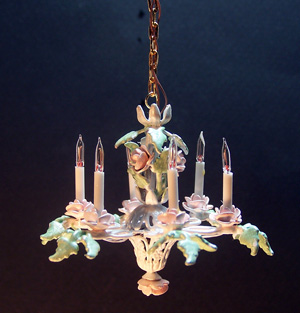 Peach Roses Chandelier