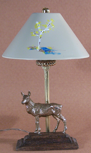 Bronze Doe Lamp